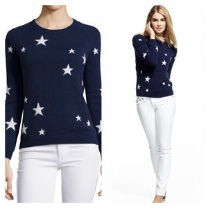 Neiman Marcus Cashmere Star-Print Sweater